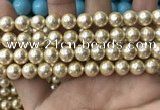 CSB2117 15.5 inches 10mm ball shell pearl beads wholesale