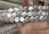 CSB2136 15.5 inches 10mm coin shell pearl beads wholesale