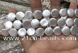CSB2137 15.5 inches 12mm coin shell pearl beads wholesale
