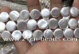 CSB2139 15.5 inches 16mm coin shell pearl beads wholesale