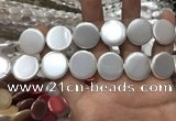 CSB2142 15.5 inches 22mm coin shell pearl beads wholesale