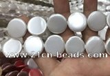 CSB2144 15.5 inches 30mm coin shell pearl beads wholesale