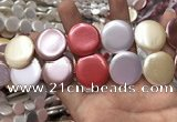 CSB2148 15.5 inches 30mm coin mixed shell pearl beads wholesale