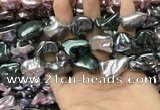 CSB2180 15.5 inches 16*16mm - 20*22mm baroque mixed shell pearl beads