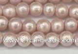 CSB2230 15.5 inches 4mm round wrinkled shell pearl beads wholesale