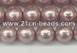 CSB2241 15.5 inches 6mm round wrinkled shell pearl beads wholesale