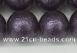CSB2275 15.5 inches 14mm round wrinkled shell pearl beads wholesale