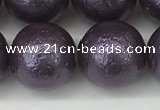 CSB2276 15.5 inches 16mm round wrinkled shell pearl beads wholesale