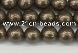 CSB2310 15.5 inches 4mm round wrinkled shell pearl beads wholesale