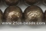 CSB2316 15.5 inches 16mm round wrinkled shell pearl beads wholesale