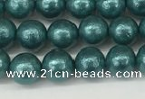 CSB2330 15.5 inches 4mm round wrinkled shell pearl beads wholesale