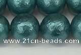 CSB2336 15.5 inches 16mm round wrinkled shell pearl beads wholesale