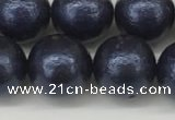 CSB2344 15.5 inches 12mm round wrinkled shell pearl beads wholesale