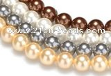 CSB24 16 inches 12mm round shell pearl beads Wholesale