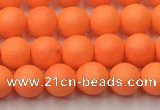 CSB2430 15.5 inches 4mm round matte wrinkled shell pearl beads