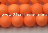 CSB2431 15.5 inches 6mm round matte wrinkled shell pearl beads