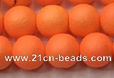 CSB2432 15.5 inches 8mm round matte wrinkled shell pearl beads