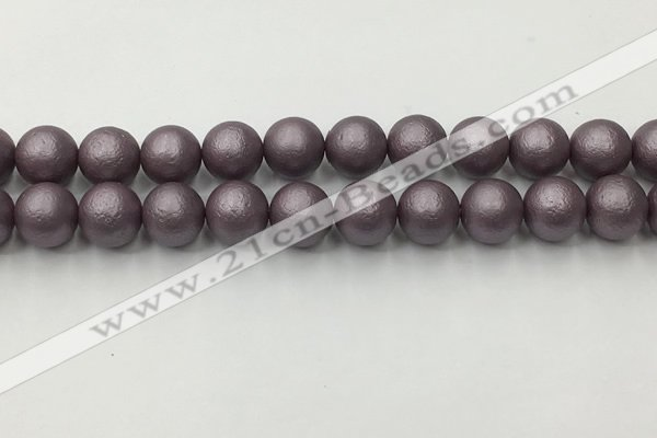 CSB2445 15.5 inches 14mm round matte wrinkled shell pearl beads