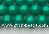 CSB2560 15.5 inches 4mm round matte wrinkled shell pearl beads