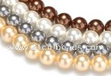 CSB26 16 inches 16mm round shell pearl beads Wholesale