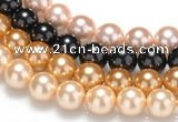 CSB27 16 inches 8mm round shell pearl beads Wholesale