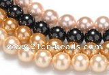 CSB29 16 inches 12mm round shell pearl beads Wholesale