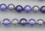 CSB344 15.5 inches 10mm round mixed color shell pearl beads