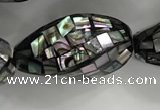 CSB4071 15.5 inches 14*26mm twisted rice abalone shell beads wholesale