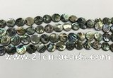 CSB4168 15.5 inches 8mm coin abalone shell beads wholesale