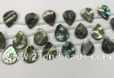 CSB4189 Top drilled 15*20mm flat teardrop balone shell beads