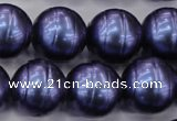 CSB649 15.5 inches 18mm whorl round shell pearl beads