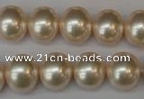 CSB801 15.5 inches 13*15mm oval shell pearl beads wholesale