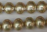 CSB802 15.5 inches 13*15mm oval shell pearl beads wholesale