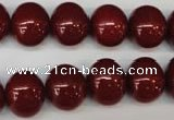 CSB811 15.5 inches 13*15mm oval shell pearl beads wholesale