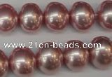 CSB814 15.5 inches 13*15mm oval shell pearl beads wholesale