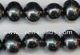 CSB816 15.5 inches 13*15mm oval shell pearl beads wholesale