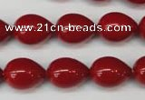 CSB869 15.5 inches 12*16mm teardrop shell pearl beads wholesale