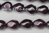 CSB891 15.5 inches 12*14mm teardrop shell pearl beads wholesale