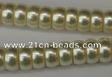 CSB901 15.5 inches 6*12mm rondelle shell pearl beads wholesale