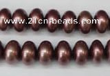 CSB906 15.5 inches 8*12mm rondelle shell pearl beads wholesale