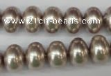 CSB908 15.5 inches 10*14mm rondelle shell pearl beads wholesale