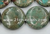 CSE07 15.5 inches 25mm flat round natural sea sediment jasper beads