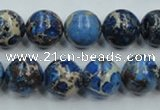 CSE214 15.5 inches 16mm round dyed natural sea sediment jasper beads