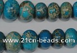 CSE302 15.5 inches 7*10mm – 15*20mm rondelle dyed sea sediment jasper beads