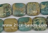 CSE5026 15.5 inches 16*16mm square natural sea sediment jasper beads