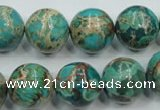 CSE77 15.5 inches 14mm round dyed natural sea sediment jasper beads