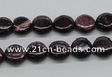 CSG63 15.5 inches 8mm flat round long spar gemstone beads wholesale