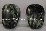 CSH145 Top-drilled 22*30mm trapezoid natural seraphinite gemstone beads
