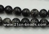 CSI02 15.5 inches 10mm round silver scale stone beads wholesale