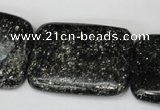 CSI119 15.5 inches 30*40mm rectangle silver scale stone beads